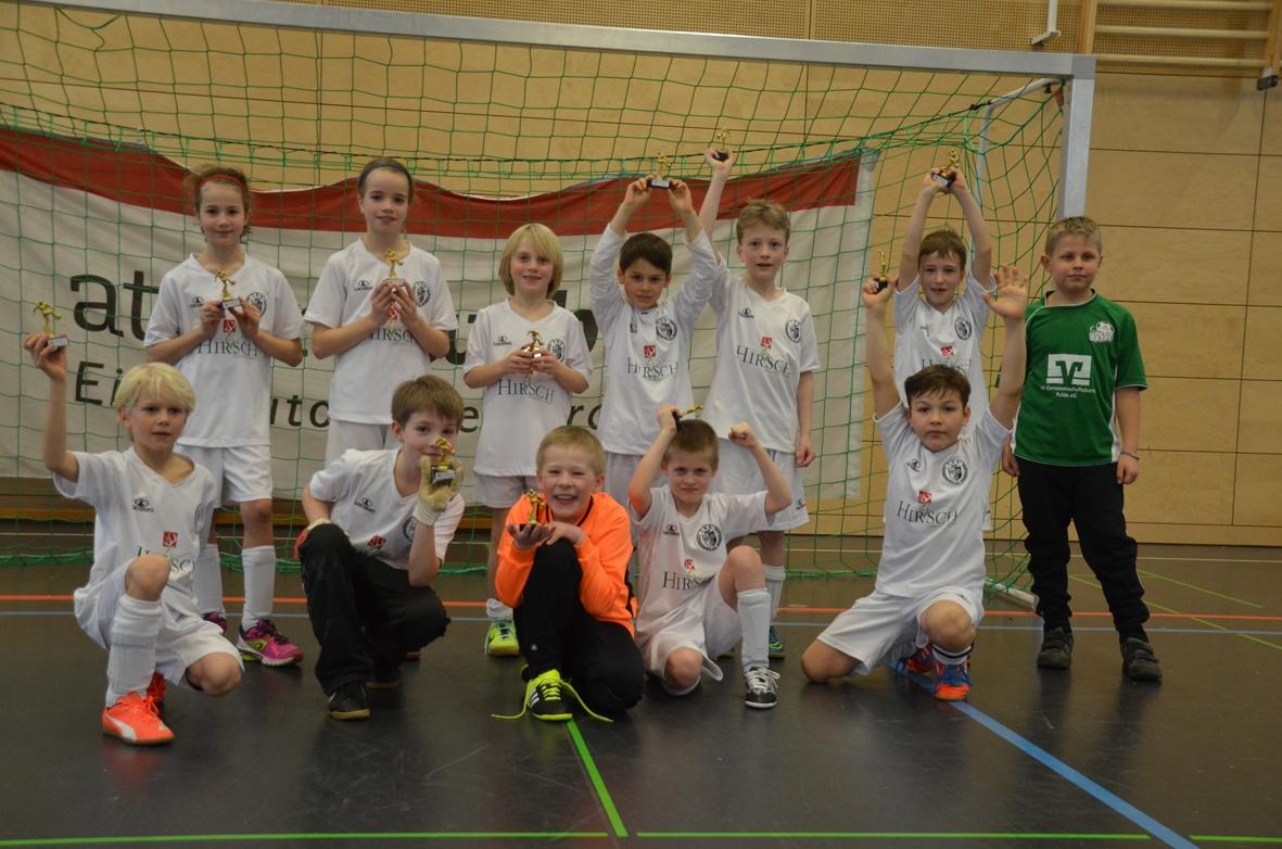 Die F-Junioren haben ein erfolgreiches Turnier gespielt